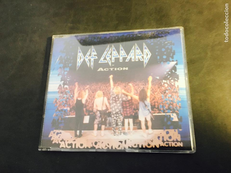 DEF LEPPARD (ACTION) CD SINGLE 3 TRACKS (CDI3) (Música - CD's Heavy Metal)