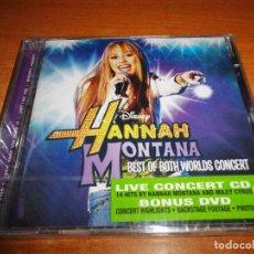 CDs de Música: HANNAH MONTANA BEST OF BOTH WORLDS CONCERT BANDA SONORA MILEY CYRUS CD + DVD PRECINTADO 2008 14TEMA. Lote 64478247