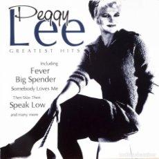 CDs de Música: PEGGY LEE – GREATEST HITS. Lote 64702671