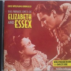 CDs de Música: THE PRIVATE LIVES OF ELIZABETH AND ESSEX - ERICH WOLFGANG KORNGOLD -VARESE CD BSO / OST / SOUNDTRACK. Lote 64725359