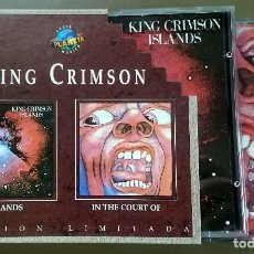 CDs de Música: KING CRIMSON: ISLANDS + IN THE COURT OF THE CRIMSON KING, 2XCD BOX SET VIRGIN 8402842, SPAIN, 1995.. Lote 64758271