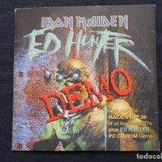 CDs de Música: IRON MAIDEN - ED HUNTER - DEMO - CD-ROM ED HUNTER GAME DEMO/ CDAUDIO DISC./ PROMO. Lote 64761283