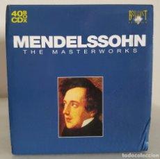 CDs de Música: MENDELSSOHN - THE MASTERWORKS - 40 CD BOX BRILLIANT - SINFONIAS,CONCIERTOS, ETC. -VER DETALLE. Lote 65426579