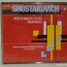 CDs de Música: SHOSTAKOVICH - JAZZ & BALLET SUITES - FILM MUSIC - ESTUCHE CON 3 CD. RARO. Lote 65665394