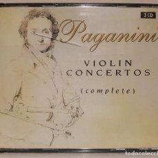 CDs de Música: PAGANINI - CONCIERTOS PARA VIOLIN - COMPLETOS - 3 CD.. Lote 65665614