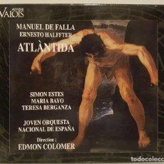 CDs de Música: ATLÁNTIDA - MANUEL DE FALLA - ERNESTO HAALFFTER - SIMON ESTES,M. BAYO, T. BERGANZA. D: EDMON COLOMER. Lote 65666106