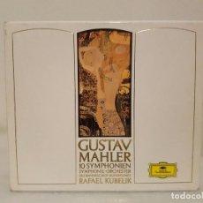 CDs de Música: GUSTAV MAHLER - SINFONIAS COMPLETAS - DIRECTOR RAFAEL KUBELIK - 10 CDS. - DEUTSCHE GRAMMPHON. Lote 65666894