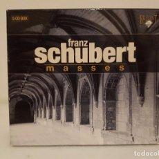 CDs de Música: FRANZ SCHUBERT - MISAS - ESTUCHA CON 5 CDS. - VARIOS INTERPRETES - INDICE EN FOTOS. Lote 65667162