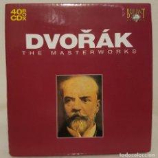 CDs de Música: DVORAK - THE MASTERWORKS - OBRAS MAESTRAS - CAJA CON 40 CDS. VER OBRAS EN FOTO. Lote 65668558