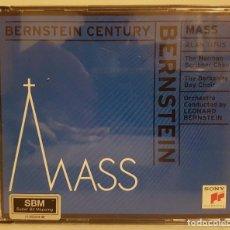 CDs de Música: LEONARD BERNSTEIN - MASS - MISA - DIRIGIDA POR LEONAR BERSTEIN - ESTUCHE CON 2 CDS.. Lote 65670350
