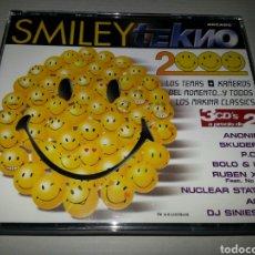 CDs de Música: SMILEY TEKNO 2000 - TRIPLE CD BUSCADISIMO!!!. Lote 65692631