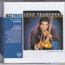 CDs de Música: JACK TEAGARDEN,THAT´S A SERIOUS THING 2004. Lote 65788790