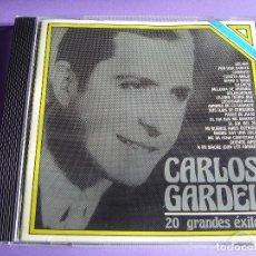 CDs de Música: CARLOS GARDEL / 20 GRANDES ÉXITOS / IMPORTADO DE ARGENTINA / EMI ODEON / CD. Lote 65867534