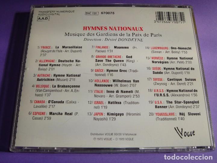 CDs de Música: HIMNOS DE PAISES / HIMNO NACIONAL DE FRANCIA, ALEMANIA, CANADÁ, ESPAÑA, GRECIA, ITALIA, JAPÓN, ETC. - Foto 2 - 65990498