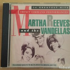 CDs de Música: MARTHA REEVES AND THE VANDELLAS: COMPACT COMMAND PERFORMANCES. 24 GREATEST HITS. Lote 66123833