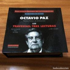 CDs de Música: OCTAVIO PAZ LEE TRAVESIAS TRES LECTURAS ESCRITORES EN SU VOZ 3 CDS + LIBRO / DIFÍCIL. AUDIO-LIBRO. Lote 66249554