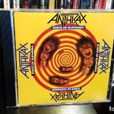 CDs de Música: ANTHRAX - STATE OF EUPHORIA. Lote 66260282
