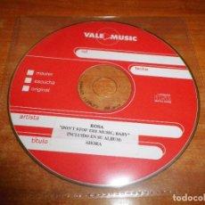CDs de Música: ROSA DON´T STOP THE MUSIC BABY CD SINGLE PROMO CD-R ORIGINAL 2003 OPERACION TRIUNFO 1 TEMA. Lote 198683107