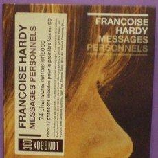 CDs de Música: FRANÇOISE HARDY - MESSAGES PERSONNELS - LONGBOX 3 CDS. Lote 217975038