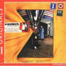 CDs de Musique: THE ORIGINALS 10CC SHEET MUSIC BOX CON CD Y TARJETA/POSTALES NUEVO. Lote 66533342