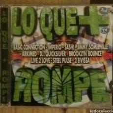 CDs de Música: LO QUE + ROMPE. 2 CD. TECHNO HOUSE EURODANCE TRANCE. Lote 66764550