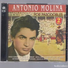 CDs de Música: ANTONIO MOLINA - POR PASODOBLES (2CD 2007, HELIX CDNS-450-451) NUEVO Y PECINTADO. Lote 66766270