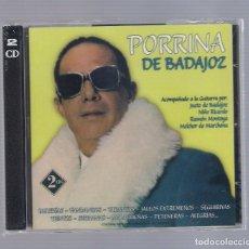 CDs de Música: PORRINA DE BADAJOZ - BULERÍAS, FANDANGOS, TARANTAS, JALEOS EXTREMEÑOS (2CD 2008, HELIX CDNS-469-470). Lote 66769230