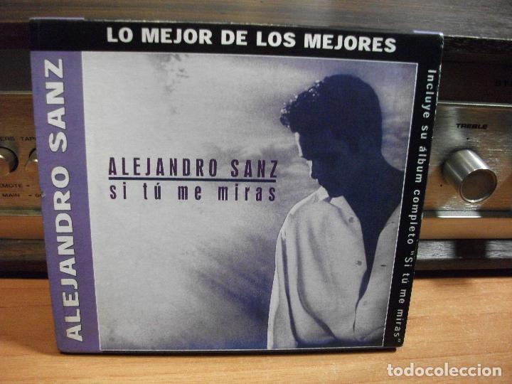 ALEJANDRO SANZ CD ALBUM LO MEJOR + SI TU ME MIRAS COMO NUEVO¡¡ PEPETO (Música - CD's Pop)
