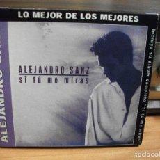 CDs de Música: ALEJANDRO SANZ CD ALBUM LO MEJOR + SI TU ME MIRAS COMO NUEVO¡¡ PEPETO. Lote 66789870