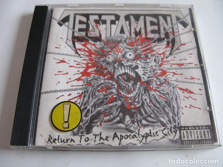 CD TESTAMENT - RETURN TO THE APOCALYPTIC CITY (Música - CD's Heavy Metal)