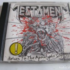 CDs de Música: CD TESTAMENT - RETURN TO THE APOCALYPTIC CITY. Lote 67133585