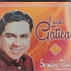CDs de Música: LUCHO GATICA,SUS MEJORES BOLEROS DOBLE CD . Lote 67173217