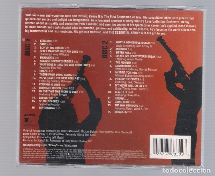 CDs de Música: KENNY G. - The Essential Kenny G. (2CD 2006, Arista/Legacy 82876768302) - Foto 2 - 67252965