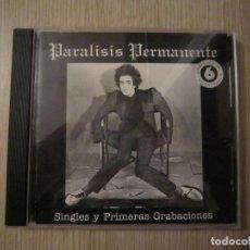 CDs de Música: CD - PUNK SINIESTRO - PARÁLISIS PERMANENTE (SINGLES Y PRIMERAS GRABACIONES) - 1995 - MADRID. Lote 67307541