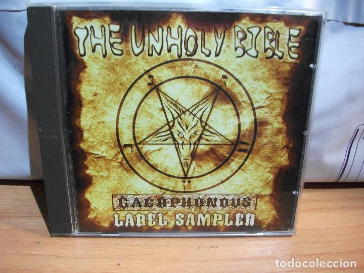 CDs de Música: THE UNHOLY BIBLE CACOPHONOUS SAMPLER CD HEAVY COMO NUEVO¡¡ PEPETO - Foto 1 - 67346873