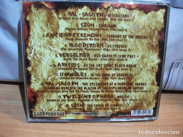 CDs de Música: THE UNHOLY BIBLE CACOPHONOUS SAMPLER CD HEAVY COMO NUEVO¡¡ PEPETO - Foto 2 - 67346873