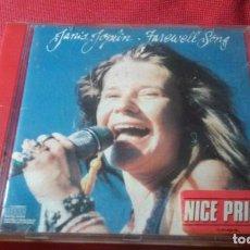 CDs de Música: JANIS JOPLIN FAREWELL SONG CD AÑO 1982. Lote 67538553