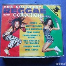 CDs de Música: THE GREATEST REGGAE COLLECTION TRIPLE CD BOX ARCADA COMO NUEVO¡¡. Lote 68527061