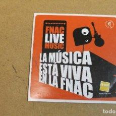 CDs de Música: CD LA MUSICA ESTA VIVA EN EL FNAC. Lote 68786825