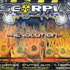 CDs de Música: CD SCORPIA CENTRAL DEL SONIDO ¨REVOLUTION¨ 3 CD (PRECINTADO). Lote 231320105