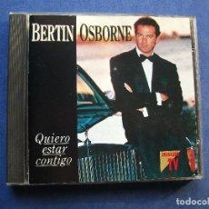 CD de Música: BERTIN OSBORNE CD QUIERO ESTAR CONTIGO..1993 PEPETO. Lote 69257949