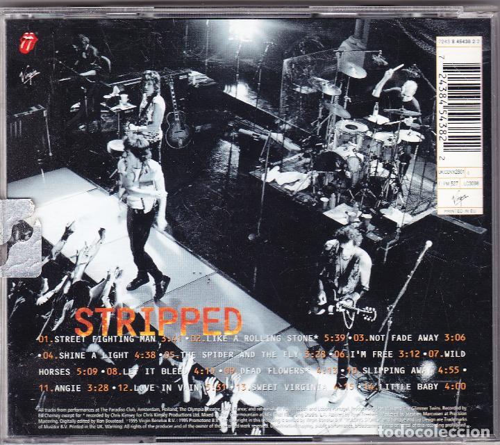 CDs de Música: M - THE ROLLING STONES - STRIPPED - VIRGIN 1995 EEUU - Foto 2 - 69372761