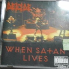 CDs de Música: DEICIDE - WHEN SATAN LIVES CD. Lote 69541973