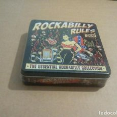 CDs de Música: VARIOS - ROCKABILLY RULES (LATA CON 3CD 2012, THE ESSENTIAL ROCKABILLY COLLECTION METRTN041) NUEVO. Lote 69640481