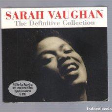 CDs de Música: SARAH VAUGHAN - THE DEFINITIVE COLLECTION (3CD DIGIPAK 2012, NOT NOW NOT3CD085) NUEVO. Lote 69673301