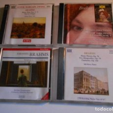 CDs de Música: JOHANNES BRAHMS. LOTE DE 4 COMPACTOS. SINFONIA Nº 2. PIEZAS PARA PIANO. 2 RAPSODIAS. FANTASIAS. TRIO. Lote 69690393