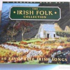 CDs de Música: THE IRISH FOLK COLECCTION. 60 FAVOURITE IRISH SONGS. TRIPLE COMPACTO.. Lote 69690785