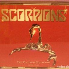 CDs de Música: SCORPIONS - THE PLATINUM COLLECTION - THREE CD SET - TRIPLE RECOPILATORIO DE 2005. DESCATALOGADO.. Lote 269800843