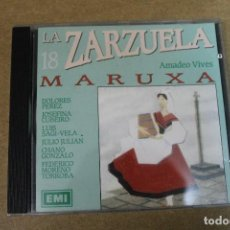 CDs de Música: CD LA ZARZUELA MARUXA AMADEO VIVES. Lote 69711609