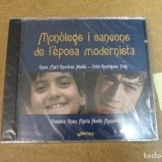 CDs de Música: CD MONOLEGS I CANÇONS DE L'EPOCA MODERNISTAS PRECINTADO. Lote 69726589